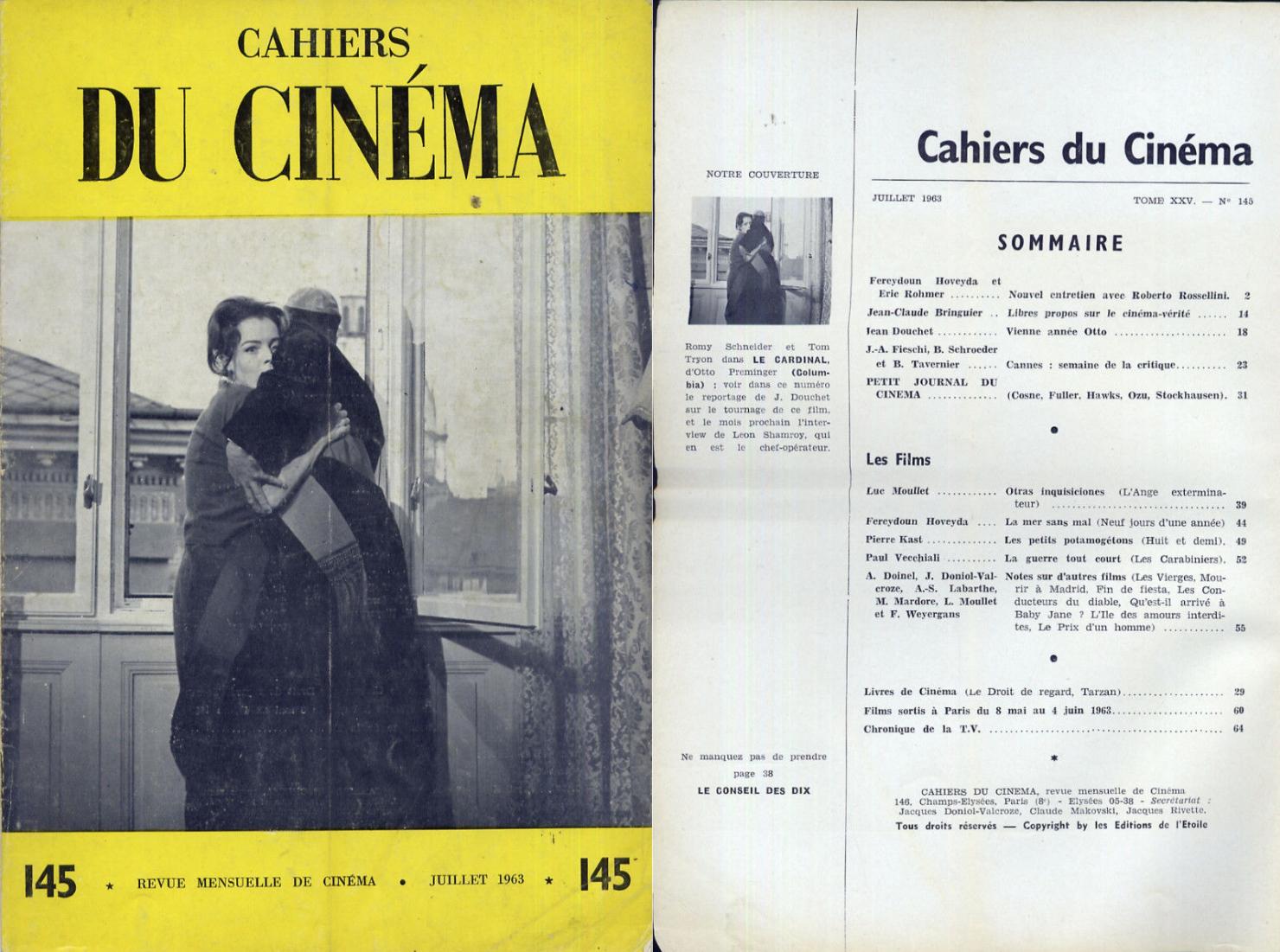 Julio de 1963: Eric Rohmer, Roberto Rossellini, Cannes, Fuller, Hawks, Ozu...