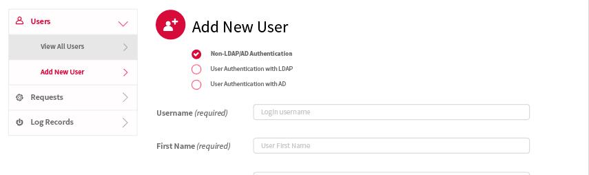 Los administradores pueden crear, ver, actualizar y borrar usuarios desde la plataforma.